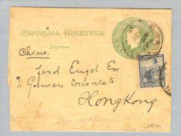 Argentinien Buenos Aires Ca 1899-03-0? Steifband Nach Hongkong - Argentine