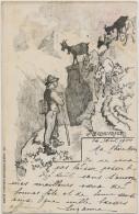 Le Chevrier Dessin Société Affiches Artistiques Geneve Timbrée 1900 Aix Les Bains Goat Keeper - GE Geneva