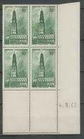1241 - FRANCE - Coin Daté -tb Neuf ** N°567 Date 4/9/1942 - Coins Datés