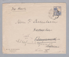 Surinam Paramaribo 1921-02-24 B.>Beyruth / Wien - Surinam