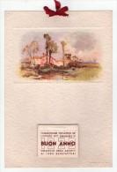Calendario. Commissione Visitatrice De L´Istituto Vittorio Emanuele III. Omaggio Degli Assistiti. Buon Anno 1939. - Calendari