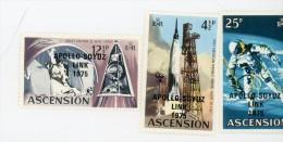 Ascension1975-Apollo Soyuz-YT 190/2***MNH