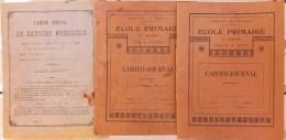 Lot De 3 Cahiers D´écolier école De Branges En Saône Et Loire (71), 2 De L´année 1901 Et 1 De 1914. - Diplômes & Bulletins Scolaires