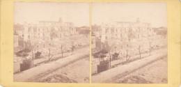 Commune De Paris 1871  Semaine Sanglante Siege De Paris Vue Prise Au Fort De Montrouge - Fotos Estereoscópicas