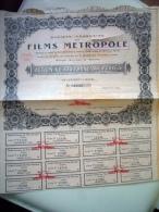 Société Française Des Films Métropole (1 Feuille) - Cinéma & Théatre