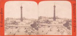 """Stereoscopique """"le Nouveau Paris""""  Place De La Bastille Colonne Tres Animée Debut 1900 - Stereo-Photographie"""