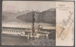 SUISSE--WEGGIS--Panorama Vom Hotel Post Gesehen--Boat - LU Lucerne