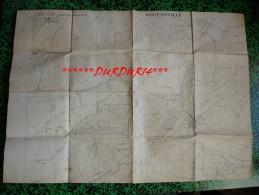 Militaria - Guerre 14-18 - Carte d��tat major groupe des Canevas de Tir... BRETEUIL ...BOUCONVILLE ...Mai 1918 ...