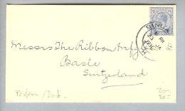 Singapore 1930-01-23 Brief Perfin Nach Basel CH - Singapour (1959-...)
