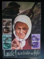 Propaganda Di Guerra  12 Valori Cpl  Su  Cartolina Illustratore Roveroni - Propaganda Di Guerra
