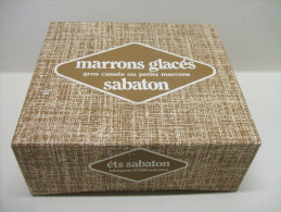 Ancienne BOITE En Carton Marrons Glacés SABATON à LABEGUDE, Aubenas (07) - Vide - Scatole