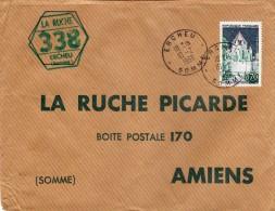 Enveloppe  LA RUCHE PICARDE Tampon Succursale N° 338 De ERCHEU  (Somme) - 1950 - ...