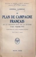 GENERAL LANREZAC PLAN CAMPAGNE FRANCAIS GUERRE 1914 AOUT SEPTEMBRE TACTIQUE STRATEGIE