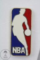 NBA Basketball Logo - Enamel And Gold Colour Pin Badge #PLS - Baloncesto