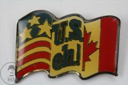 USA & Canada Flag - U.S. Eh! - Pin Badge #PLS - Baloncesto