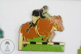 Barcelona 1992 Olympic Games - Equestrian/ Horse Jumping - Pin Badge #PLS - Juegos Olímpicos