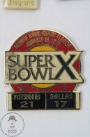 Super Bowl Orange Bowl Miami Florida 1976: Pitsburg - Dallas - Pin Badge #PLS - Fútbol