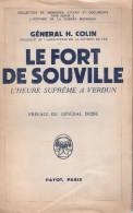 GENERAL COLIN FORT SOUVILLE BATAILLE VERDUN DIVISION FER GUERRE 1914 1918