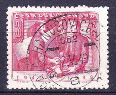 Tchécoslovaquie 1948 Mi 557 (Yv 487), Obliteré - Gebraucht