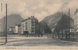 30Q - 38 - Grenoble - Isère - Barrière De L'Aigle Et Le Cours De Saint-andré - Le Mont Rachais Et Le Casque De Néron - Grenoble