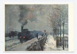 MONET --TRAIN DANS LA NEIGE  -RECTO/VERSO -C14 - Peintures & Tableaux