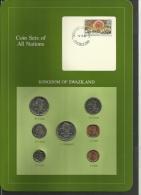 SWAZILAND  - Uncirculated Set Of 7 Coins - 1 Cent To 1 Lilangeni - 1975, 1979, 1981 & 1982 - Swazilandia
