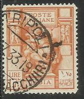 LIBIA 1931 PITTORICA E SIBILLA LIRE 1,75 DENT. PERF. 14 USATO USED OBLITERE´ - Libya