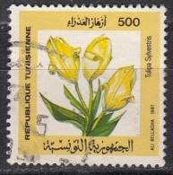Tunisia, 1987 - 500M Tulipa Sylvestris - NR.932 Usato° - Tunisia (1956-...)