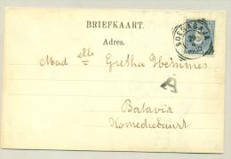 Nederlands Indië 1900 -  5ct Cijfer Op Kaart Komediegebouw Naar Batavia Komediebuurt - Nederlands-Indië