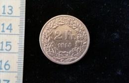 Monnaie 2 Fr Suisse 1914 B Argent - Suisse