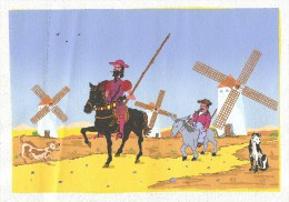 """DON QUIXOTE (Don Quichotte) - """"peinture"""", Impression Couleur Sur Toile - Otros"""