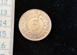 Monnaie 5 Mark Argent 1964 - [ 6] 1949-1990 : RDA - Rép. Démo. Allemande