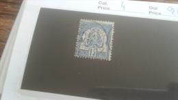 LOT 253629 TIMBRE DE COLONIE TUNISIE OBLITERE N�4 VALEUR 24 EUROS
