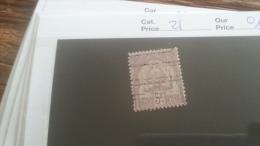 LOT 253636 TIMBRE DE COLONIE TUNISIE OBLITERE N�21 VALEUR 110 EUROS