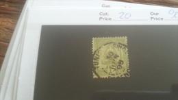 LOT 253637 TIMBRE DE COLONIE TUNISIE OBLITERE N�20 VALEUR 12 EUROS