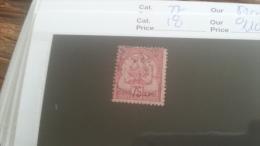 LOT 253640 TIMBRE DE COLONIE TUNISIE OBLITERE N�18 VALEUR 110 EUROS