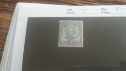 LOT 253643 TIMBRE DE COLONIE TUNISIE NEUF* N�25 VALEUR 25 EUROS