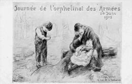 GUERRE DE 1914-JOURNEE DE L ORPHELEINAT DES ARMEES --JUIN 1915-illustrateur- ROLL - Guerra 1914-18