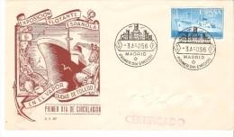 Carta Con La Serie Nº 1191  Matasello Primer Dia - 1951-60 Briefe U. Dokumente