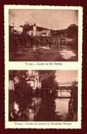 TOMAR - AÇUDE DO RIO NABAO - PONTE DE ACESSO AO MOUCHAO PARQUE - 1940 PC - Santarem