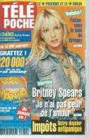 "TELE POCHE  N° 1882  "" BRITNEY SPEARS  "" -   MARS  2002 - Télévision"