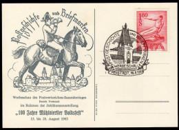 ÖSTERREICH 1963 - Postgeschichte Und Briefmarken / Werbeschau In Freistadt - Sonderstempelkarte - Post