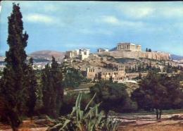 Atene - Una Veduta Dell'acropoli Dalle Prigione Di Socrate - Formato Grande Viaggiata Mancante Di Affrancatura - Grecia