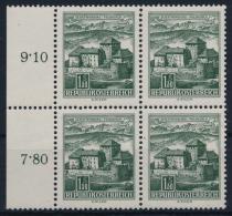 **Österreich Austria 1967 ANK 1261 Mi 1232 Block Of 4 Castle Schattenburg Buildings MNH - 1961-70 Ungebraucht