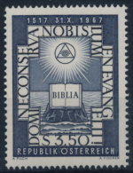 **Österreich Austria 1967 ANK 1279 Mi 1249 (1) Biblia Bible Reformation Faith MNH - 1961-70 Ungebraucht