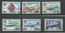 Fiji 1983 Manned Flight Aeroplane Set 6 FU - Fiji (1970-...)