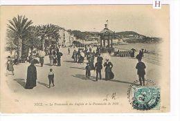 CPA  (06) NICE Promenade Des Anglais & Du Midi -animée- (120) - Zonder Classificatie