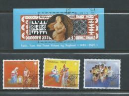 Fiji 1982 Christmas Set 3 &  Raphael Miniature Sheet FU - Fiji (1970-...)