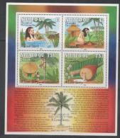 NIUAFO´OU ,1991, MNH, CHRISTMAS, ORIGIN OF THE COCONUT TREE, LEGENDS, EELS, SHEETET - Christmas