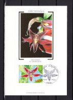"""Carte Maximum En Soie De 2005 N° YT 3766 """" ORCHIDEE D´APHRODITE """" En Parfait état. CM - Orchidées"""